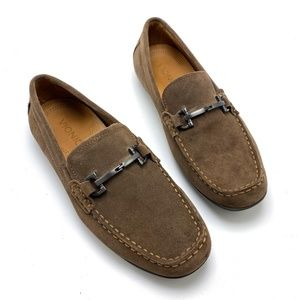 VIONIC Brown Suede Comfort Driving Loafers